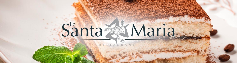 La Santa Maria Restaurant Valence tiramisu italien